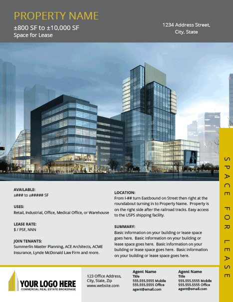 Sales package offering memorandum om for commercial real for Commercial real estate brochure template