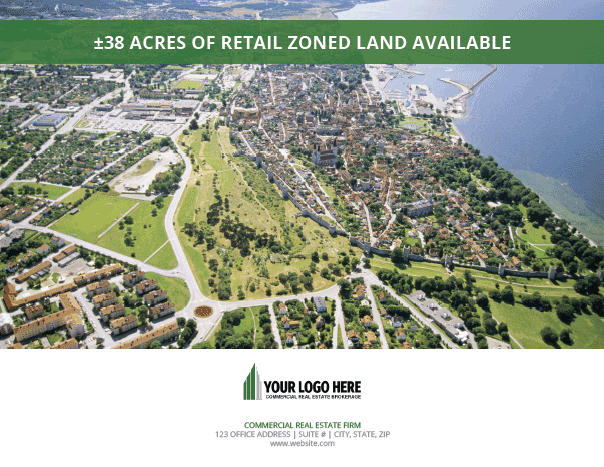 Brochure Template for Commercial Real Estate Land - Brochure and OM