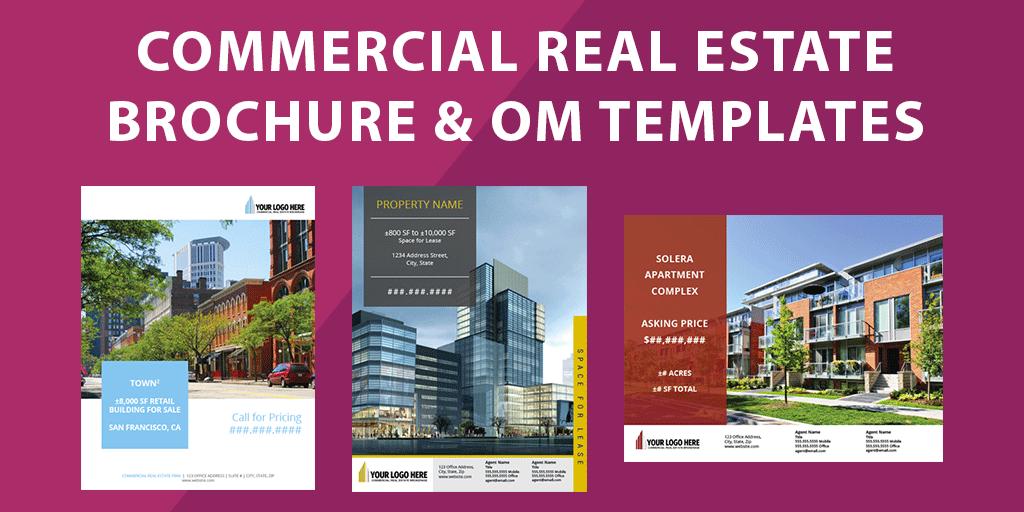 Commercial Real Estate Brochure Templates Flyer Sales Package Om