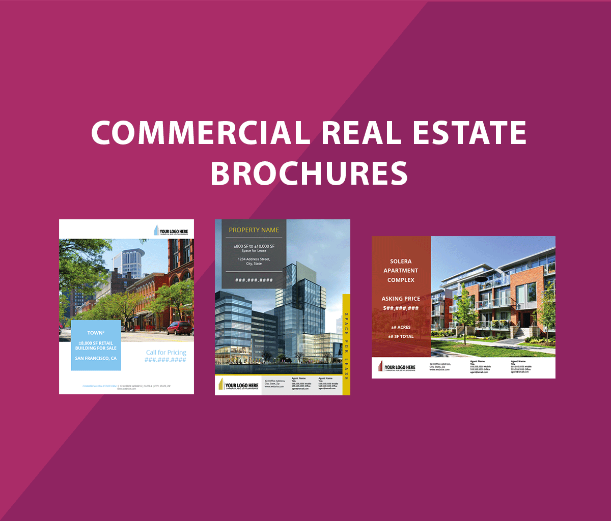 commercial real estate brochure flyer design designs that sell