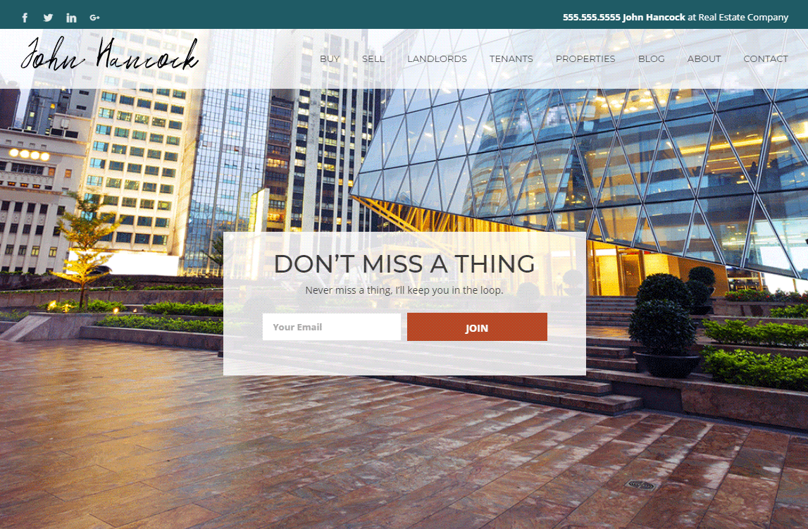 Commercial Real estate Website Template