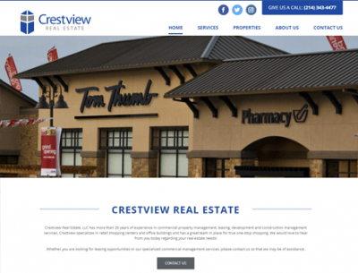 Commercial Real Estate Website Design Calico Marketing