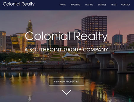 Colonial Realty Website Screenshot