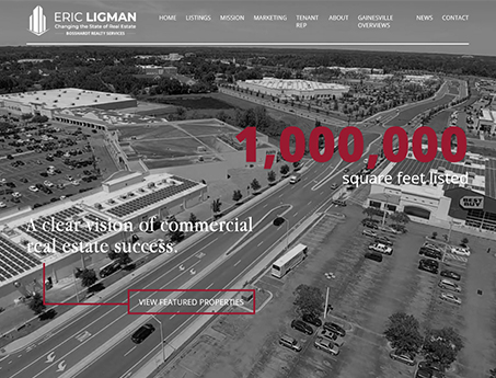 Eric Ligman Bosshardt Realty Website Screenshot