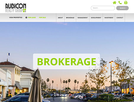 Screenshot of Rubicon Realty Website Home Page
