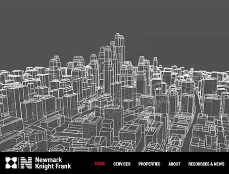 Screenshot of the Newmark Net Lease Website