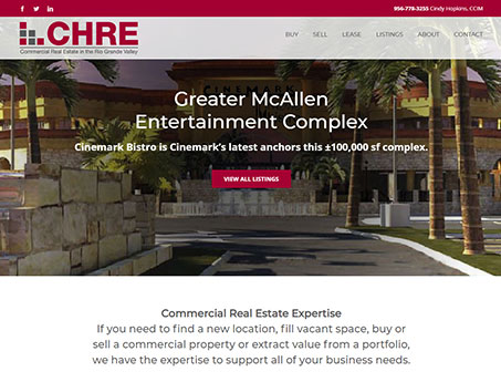 Cindy Hopkins Commercial Real Estate Website