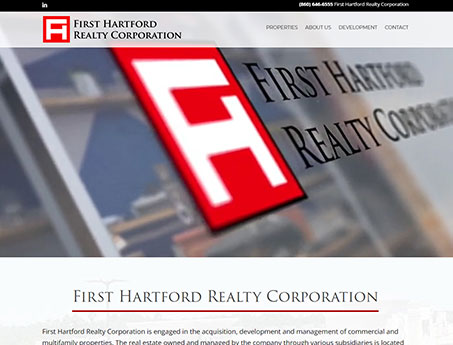 Screenshot of the First Hartford website