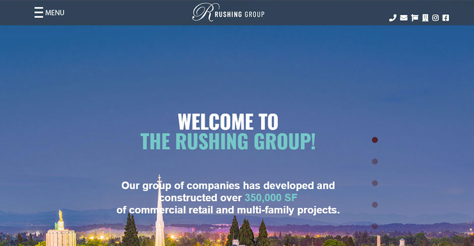 Screenshot of Rushing Group Website